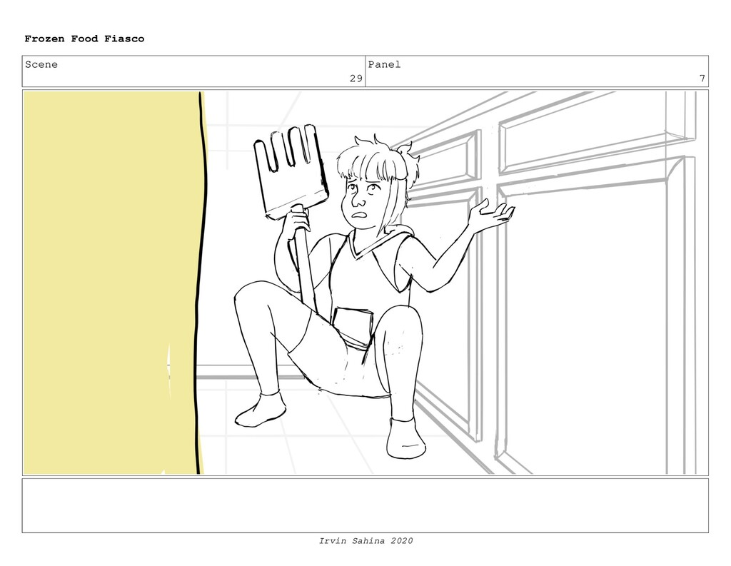Scene 31 Panel 6 Frozen Food Fiasco