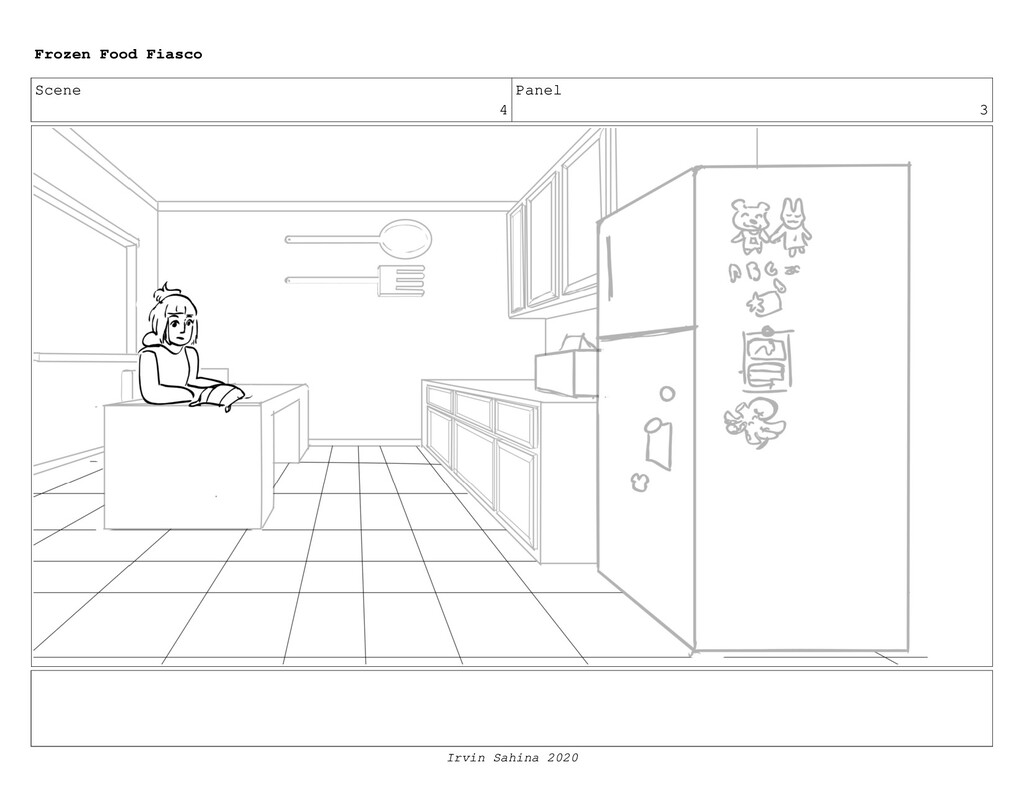 Scene 5 Panel 4 Frozen Food Fiasco