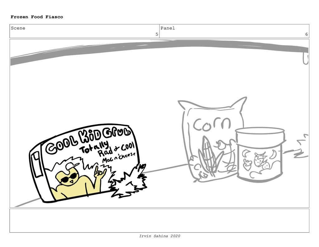 Scene 8 Panel 2 Frozen Food Fiasco