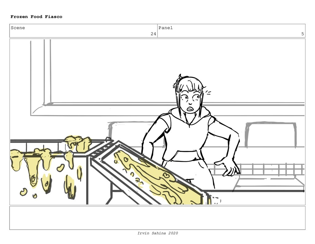 Scene 26 Panel 9 Frozen Food Fiasco