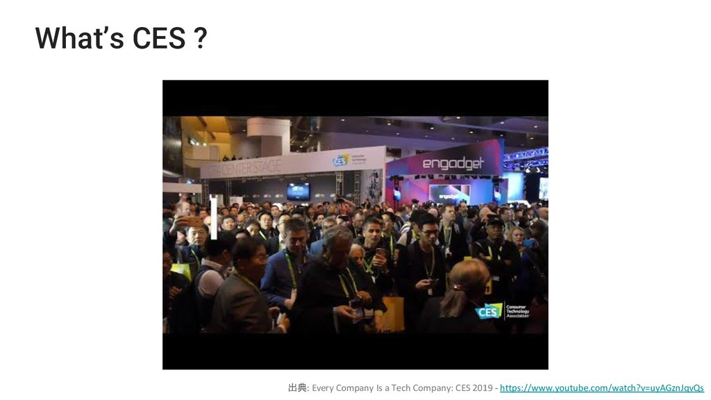 What's CES ? 出典: Every Company Is a Tech Compan...
