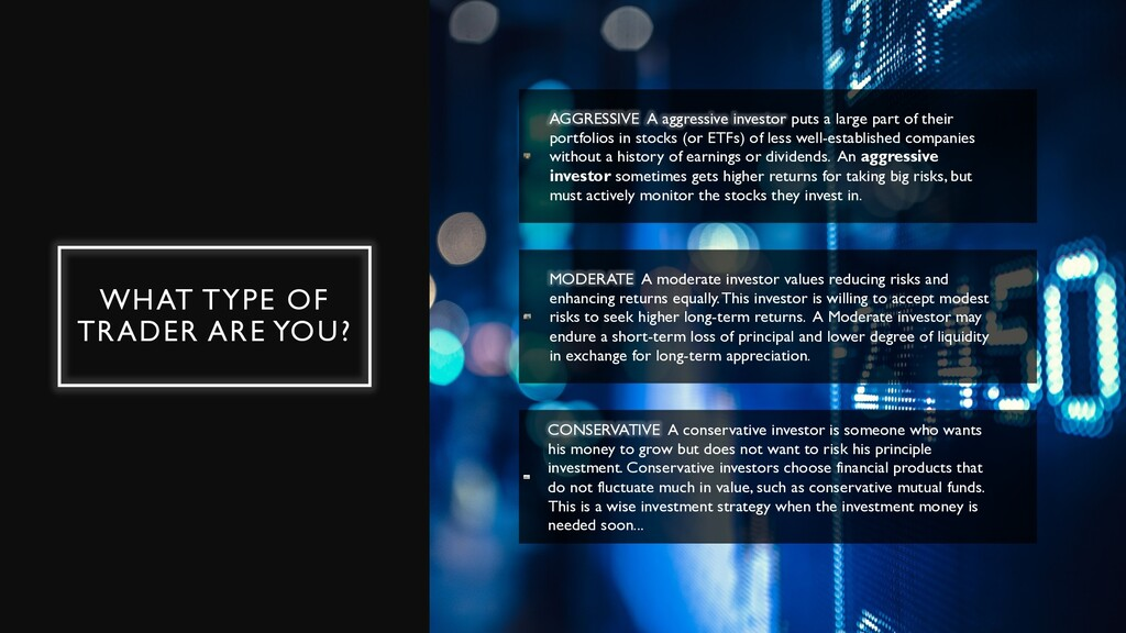 WHAT TYPE OF TRADER ARE YOU? AGGRESSIVE A aggre...