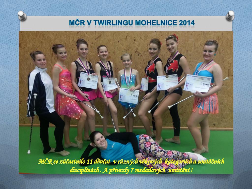MČR se zúčastnilo 11 děvčat v různých věkových ...