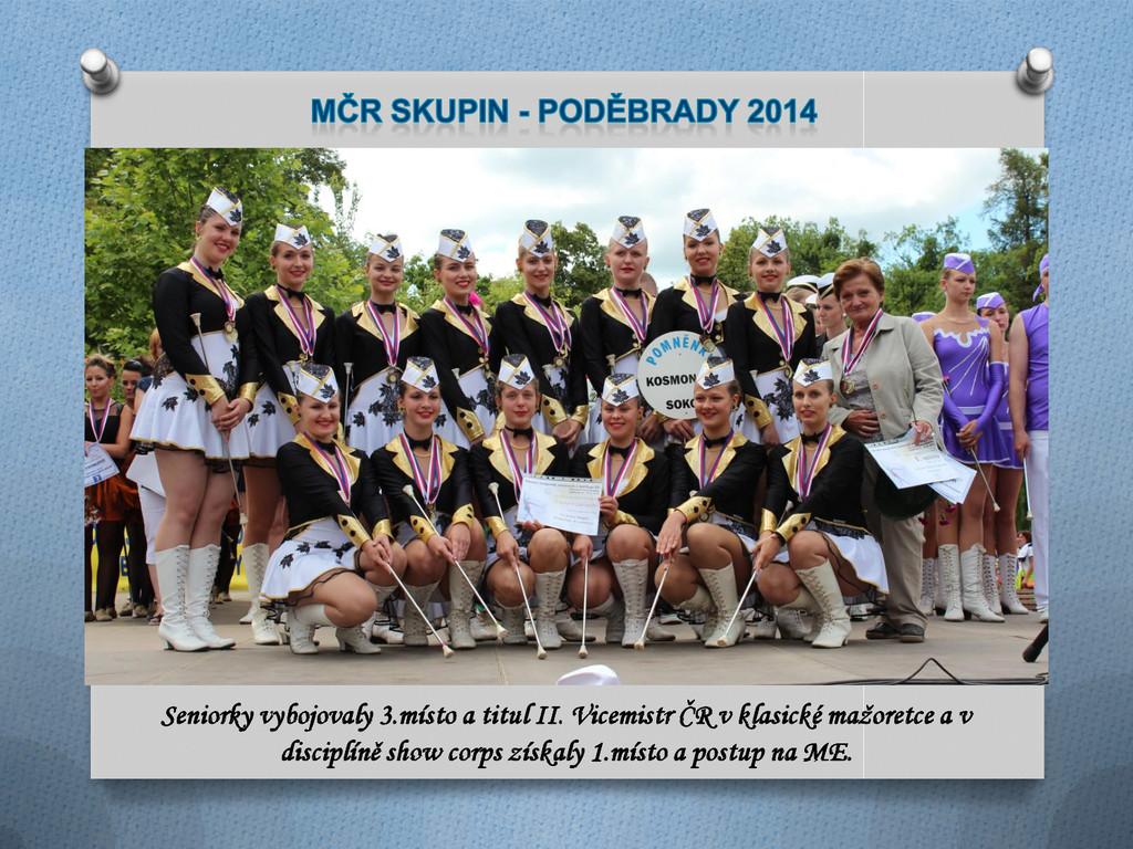 Seniorky vybojovaly 3.místo a titul II. Vicemis...