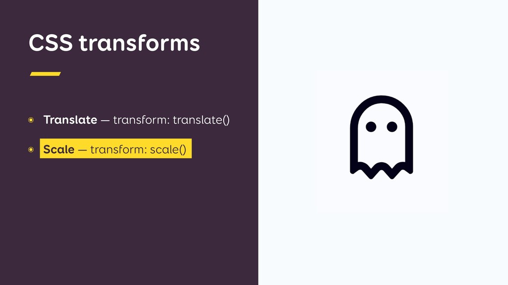 CSS transforms ๏ Translate — transform: transla...