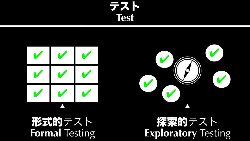 ୳ࡧతςετ Exploratory Testing ˛ ˛ ܗࣜతςετ Formal ...