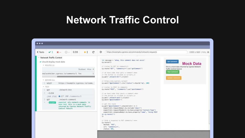 Network Traffic Control Ƃ Mock Data