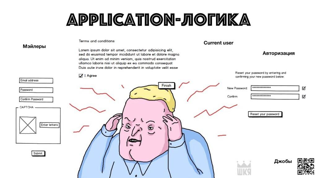 Application-логика Джобы Мэйлеры Current user А...