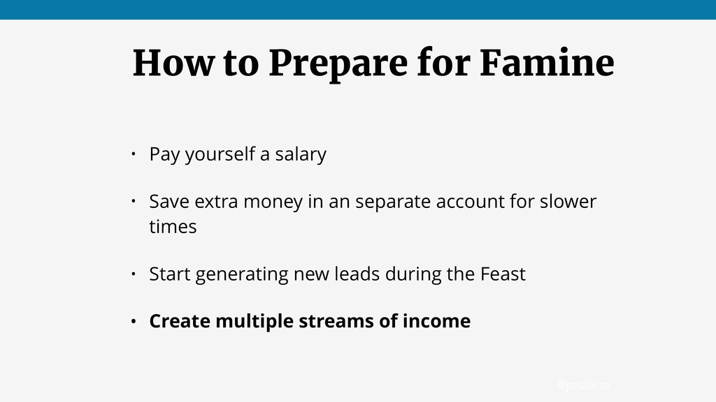 @jcasabona How to Prepare for Famine • Pay your...