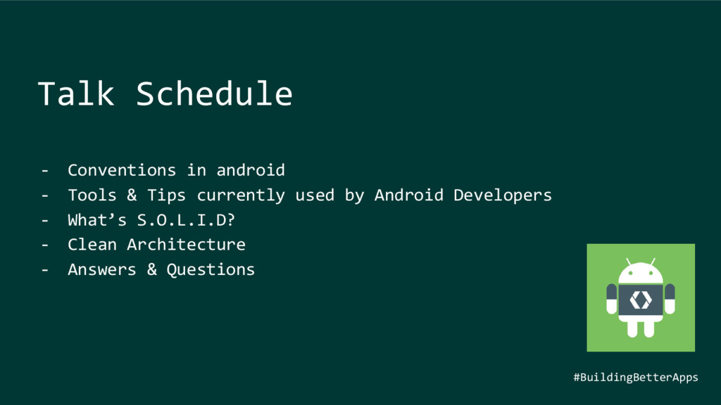 - Conventions in android - Tools & Tips current...