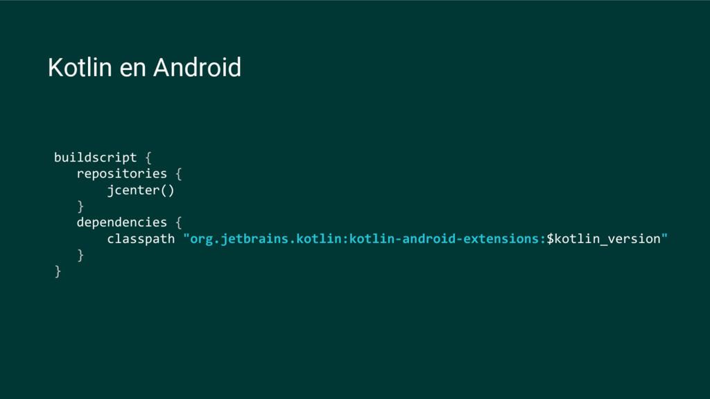 buildscript { repositories { jcenter() } depend...