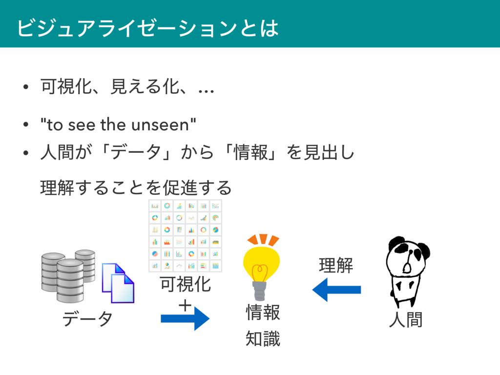 """ϏδϡΞϥΠθʔγϣϯͱ • ՄࢹԽɺݟ͑ΔԽɺ… • """"to see the unseen..."""