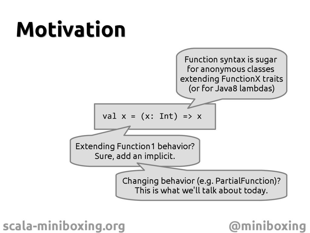 scala-miniboxing.org @miniboxing Motivation Mot...