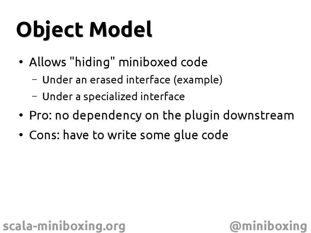 scala-miniboxing.org @miniboxing Object Model O...