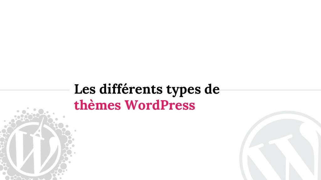Les différents types de thèmes WordPress