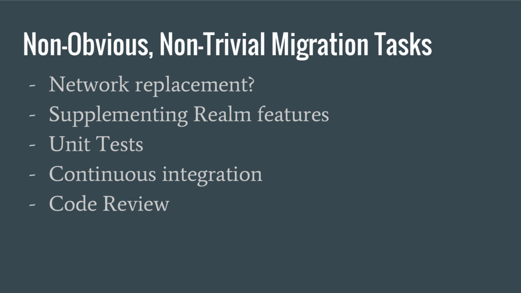 Non-Obvious, Non-Trivial Migration Tasks - Netw...