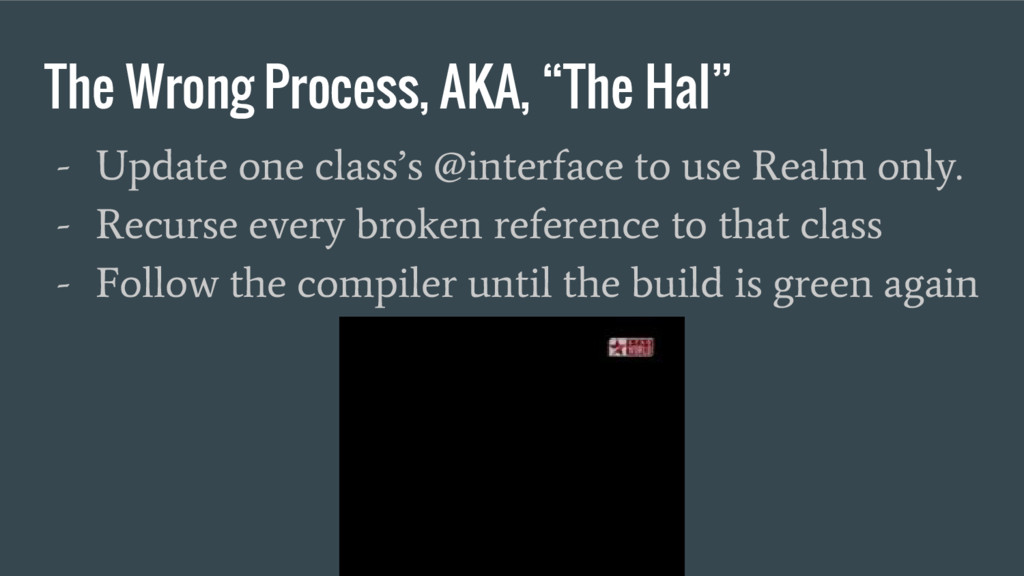 """The Wrong Process, AKA, """"The Hal"""" - Update one ..."""