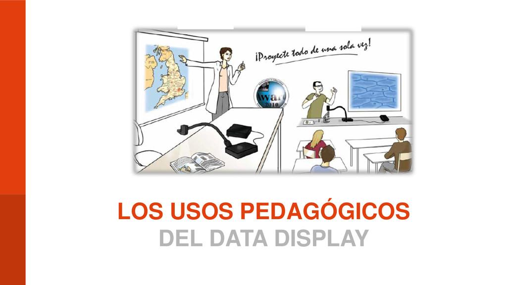 LOS USOS PEDAGÓGICOS DEL DATA DISPLAY