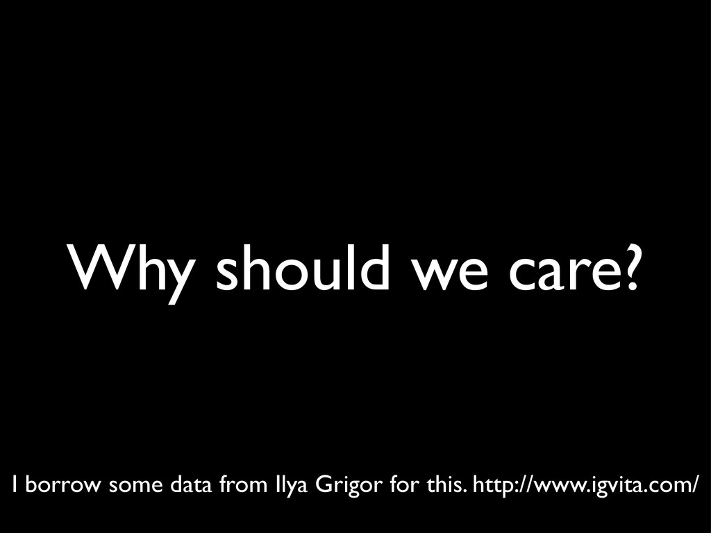 Why should we care? I borrow some data from Ily...
