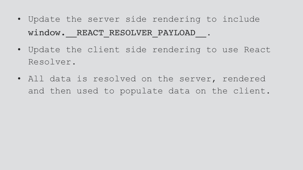 • Update the server side rendering to include w...