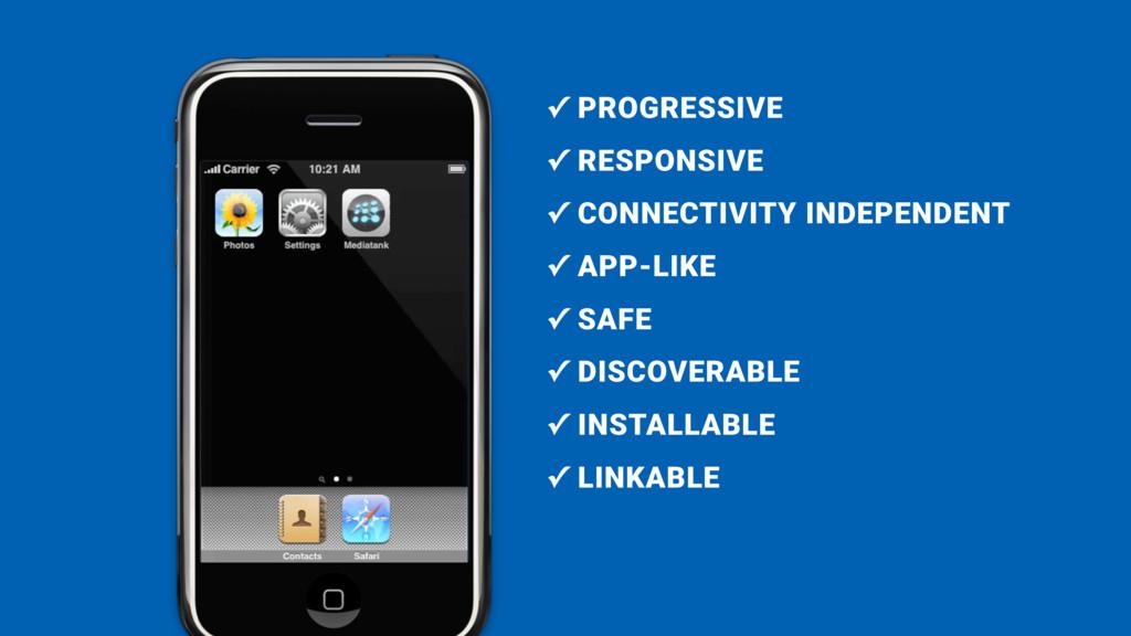 ✓ PROGRESSIVE ✓ RESPONSIVE ✓ CONNECTIVITY INDEP...