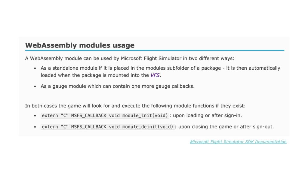 Microsoft Flight Simulator SDK Documentation