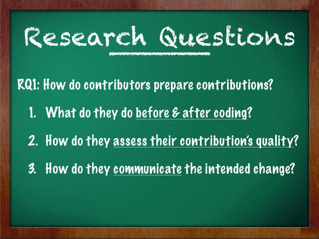 RQ1: How do contributors prepare contributions?...