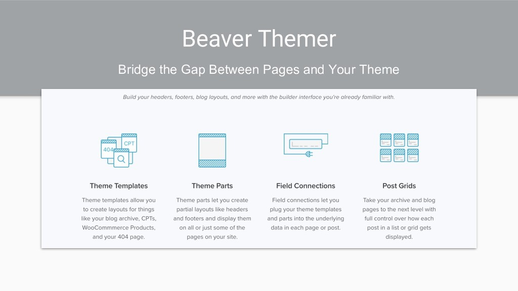 Beaver Themer Bridge the Gap Between Pages and ...
