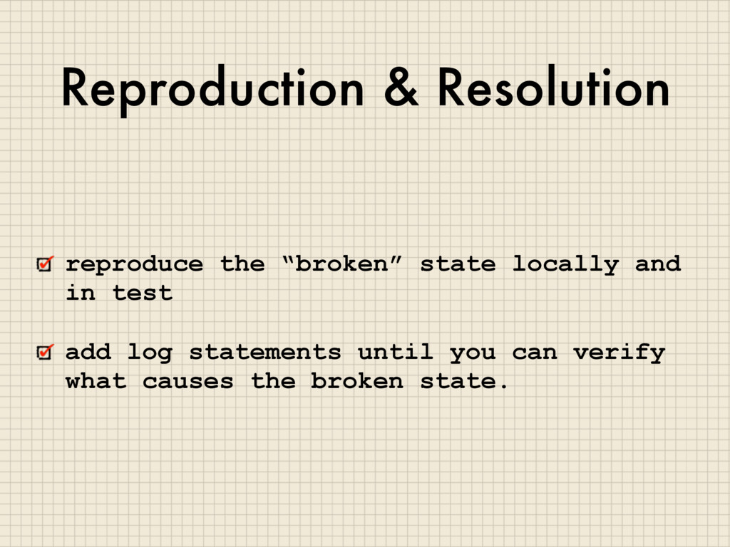 "Reproduction & Resolution reproduce the ""broken..."