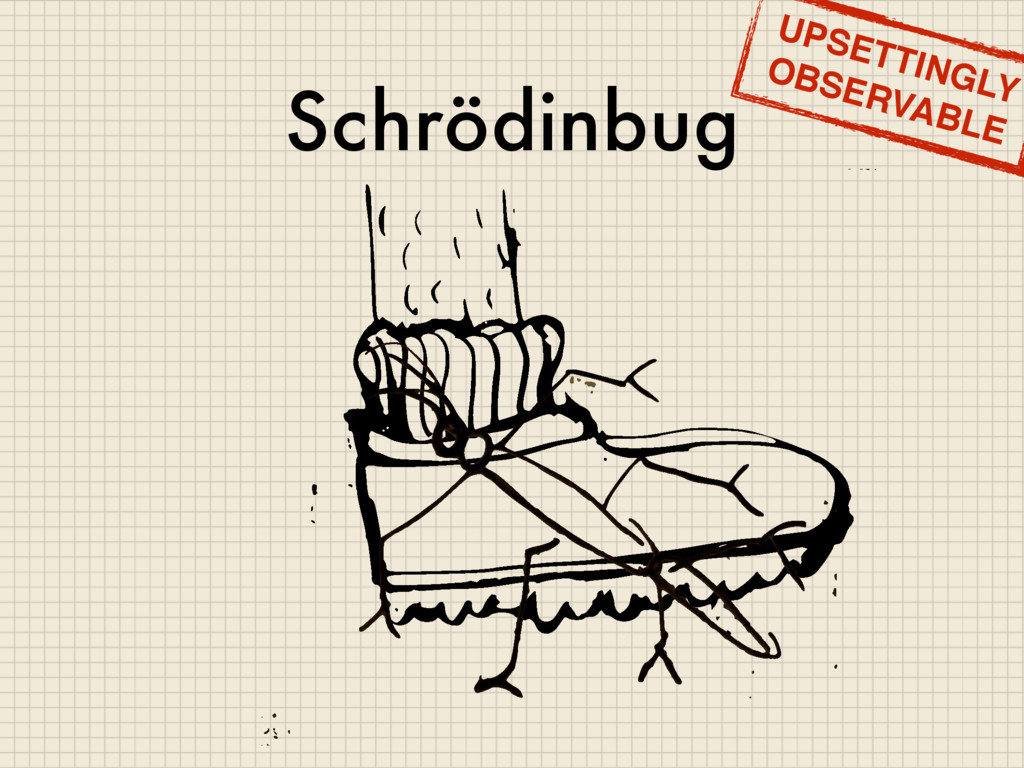Schrödinbug UPSETTINGLY OBSERVABLE