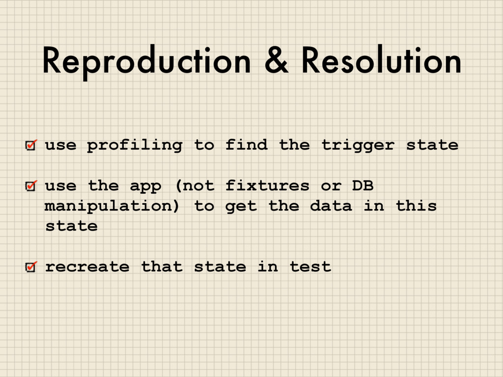 Reproduction & Resolution use profiling to find...