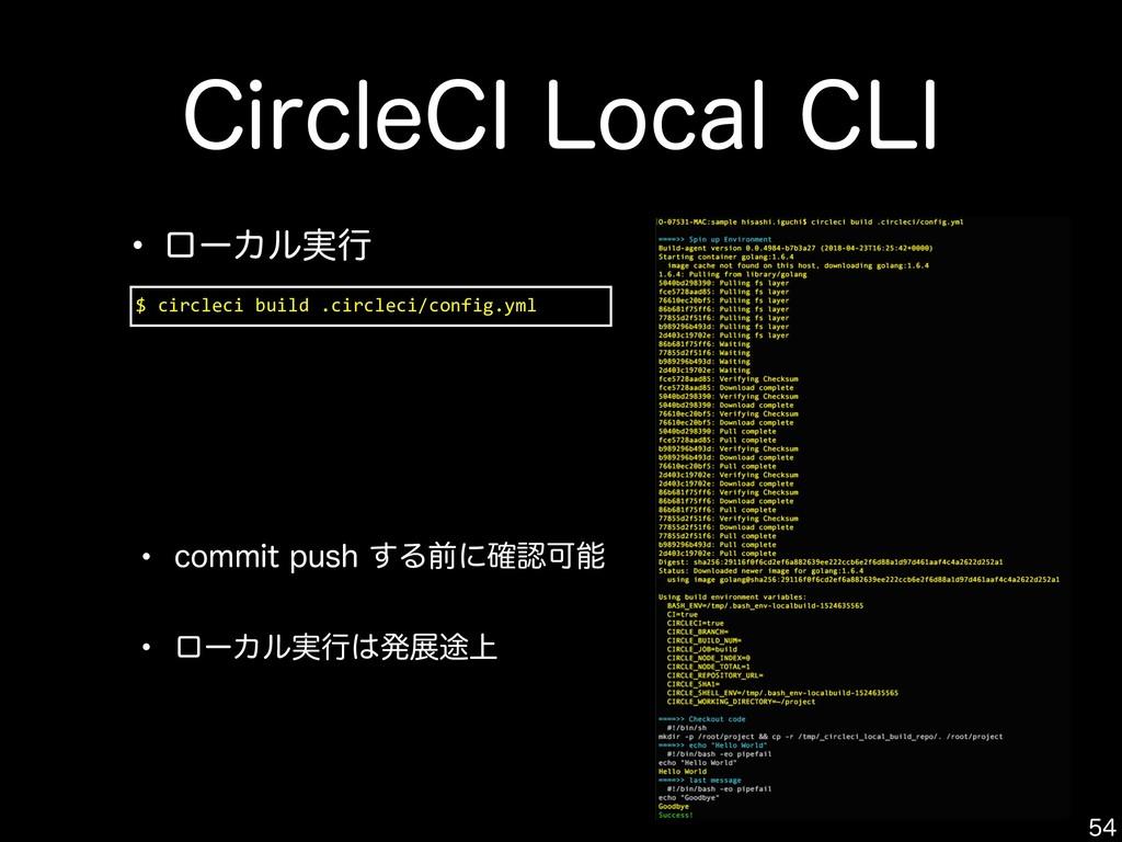 $JSDMF$*-PDBM$-*  $ circleci build .circlec...