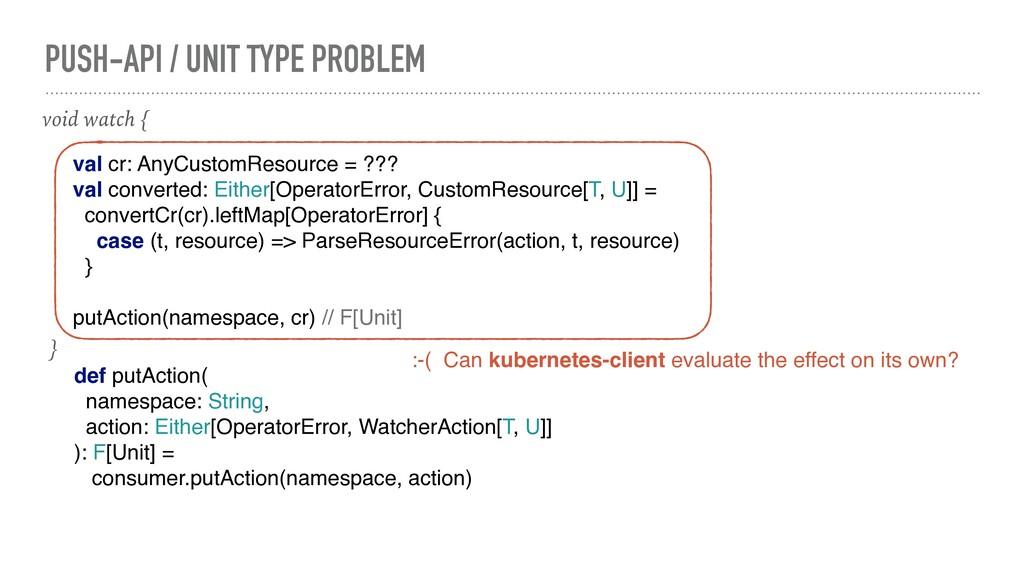 PUSH-API / UNIT TYPE PROBLEM def putAction( nam...