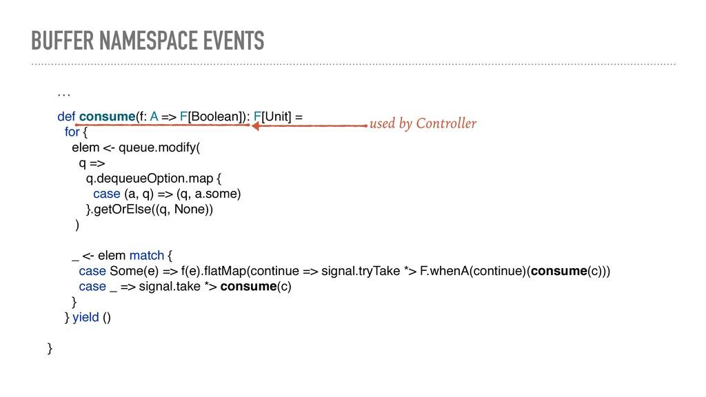 BUFFER NAMESPACE EVENTS def consume(f: A => F[B...