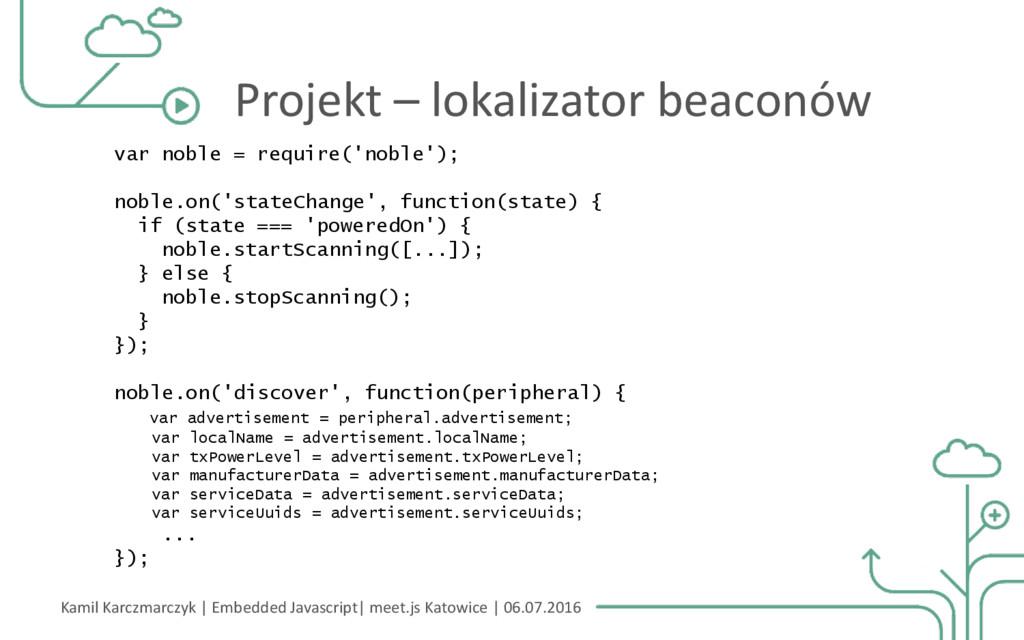 Kamil Karczmarczyk | Embedded Javascript| meet....
