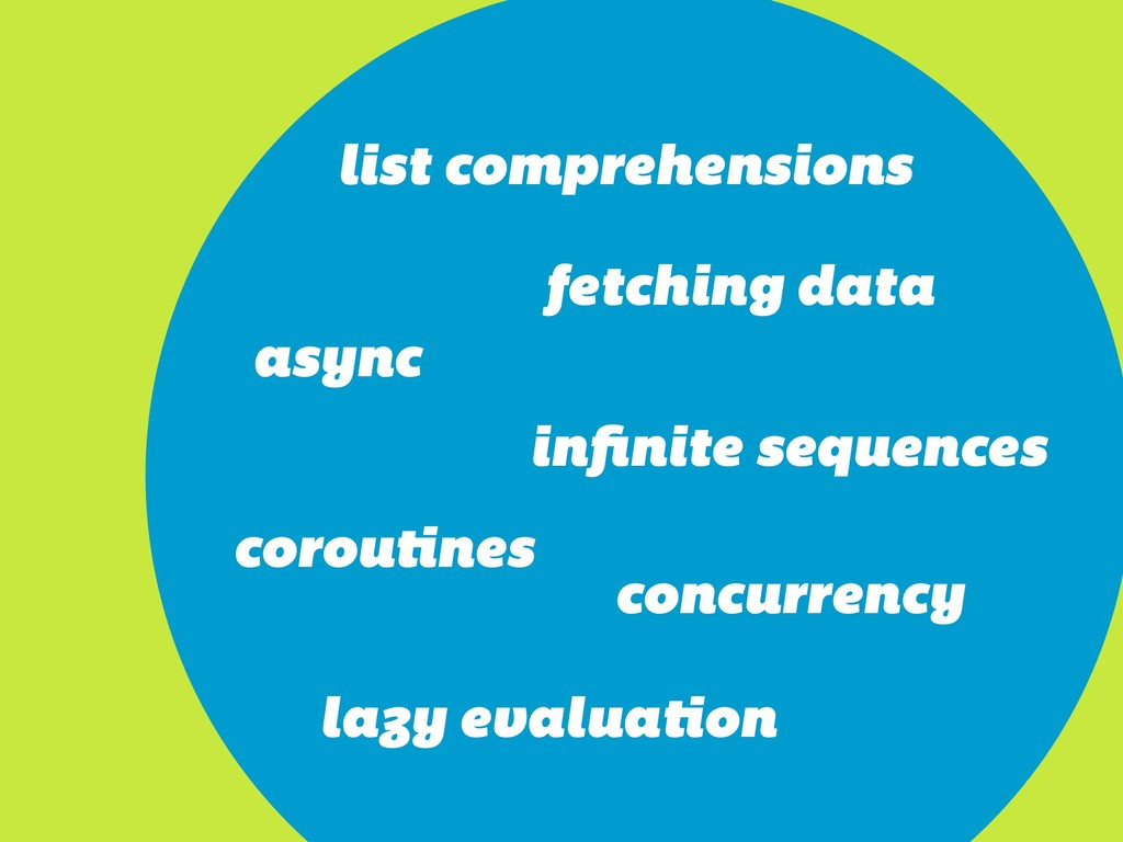 async infinite sequences fetching data list comp...