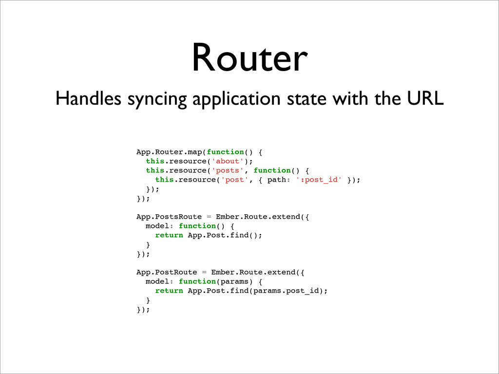 Router Handles syncing application state with t...