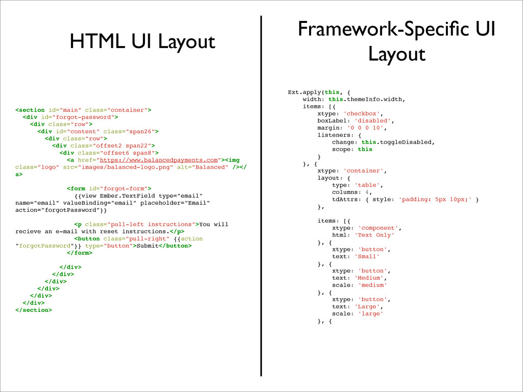HTML UI Layout Framework-Specific UI Layout Ext....