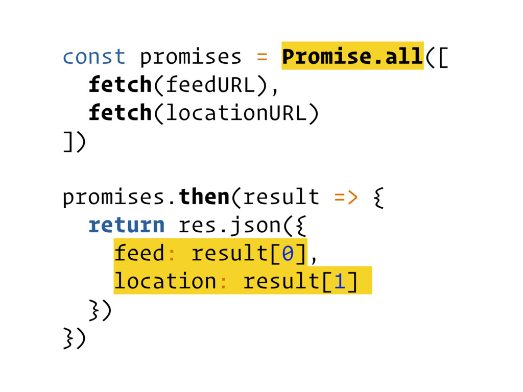 const promises = Promise.all([ fetch(feedURL), ...