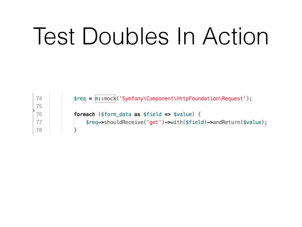 Test Doubles In Action