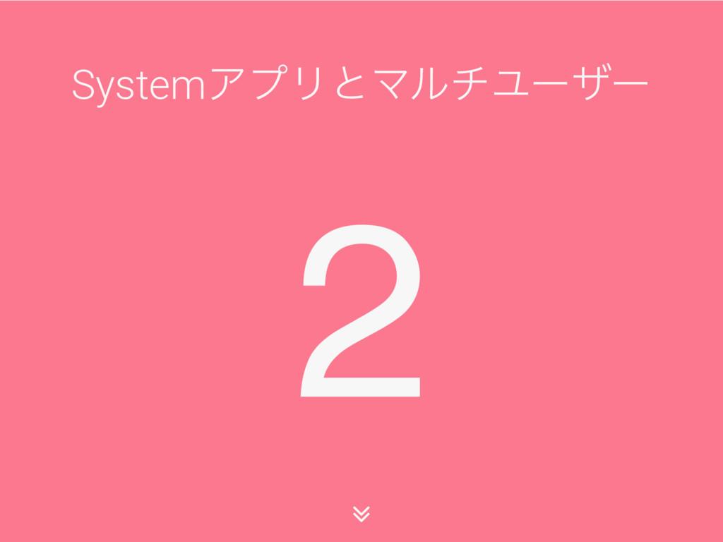 2 SystemΞϓϦͱϚϧνϢʔβʔ ∠