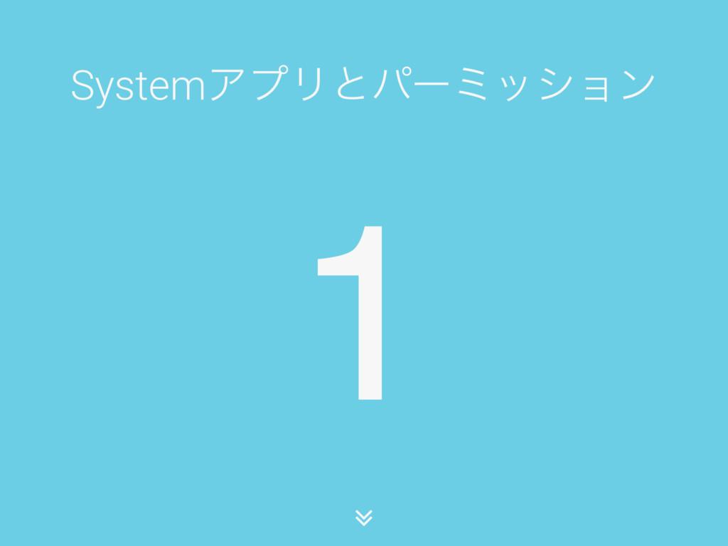 1 SystemΞϓϦͱύʔϛογϣϯ ∠