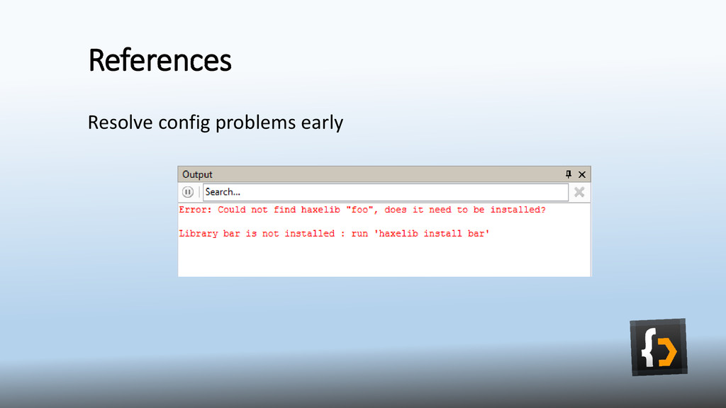 References Resolve config problems early