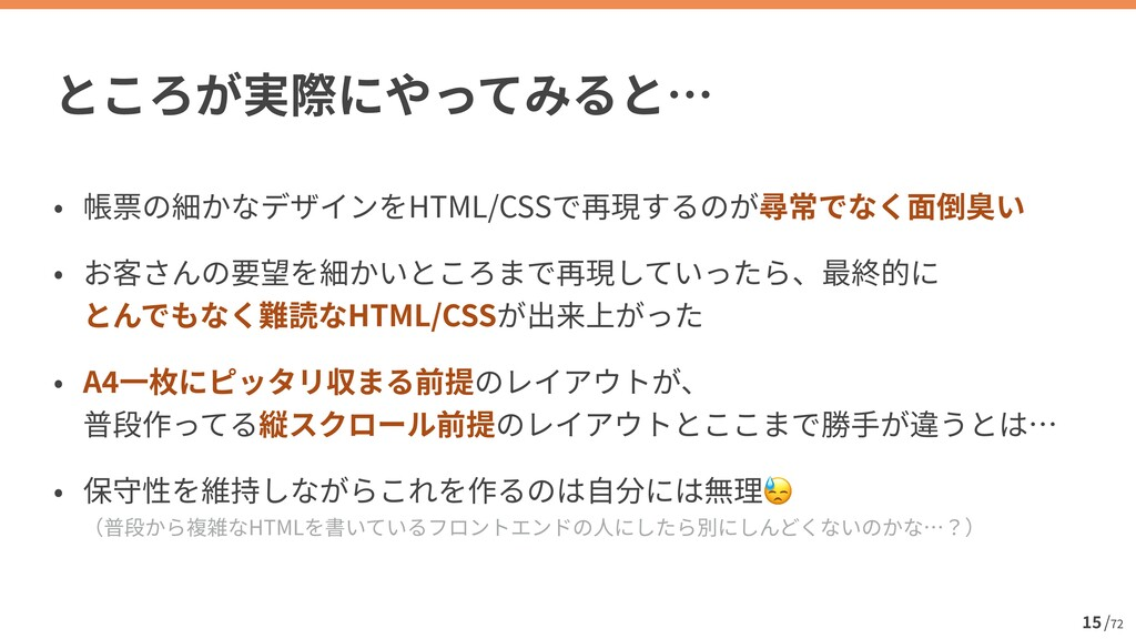 / 72 15 HTML/CSS    HTML/CSS   A 4    😓  HTML