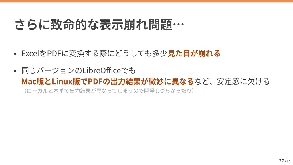 / 72 27 Excel PDF   LibreO ff i ce  Mac Linux ...