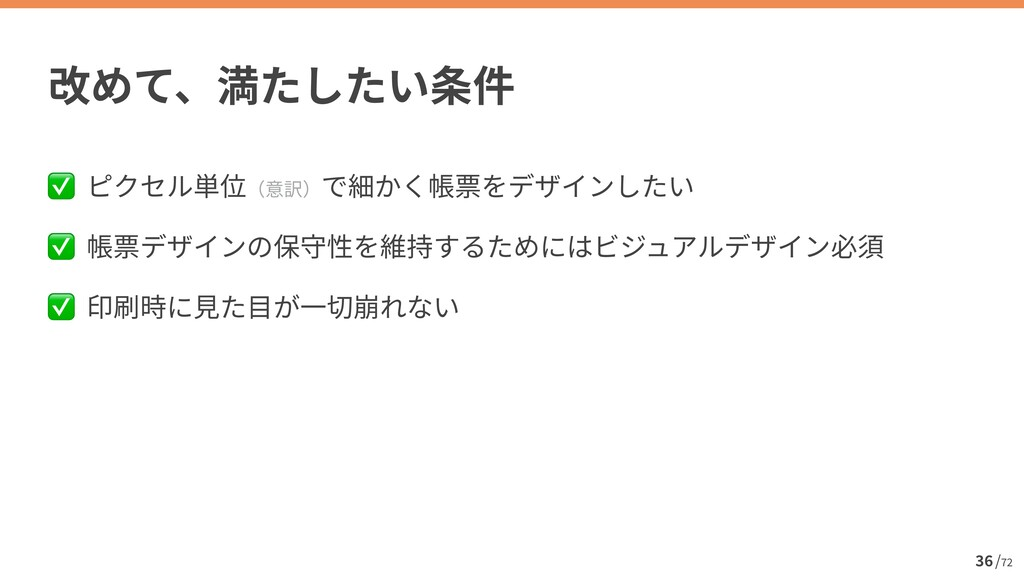 / 72 36 ✅   ✅   ✅