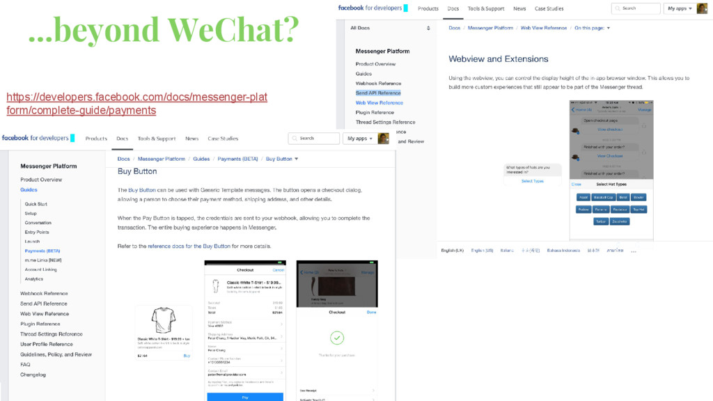 ...beyond WeChat? https://developers.facebook.c...
