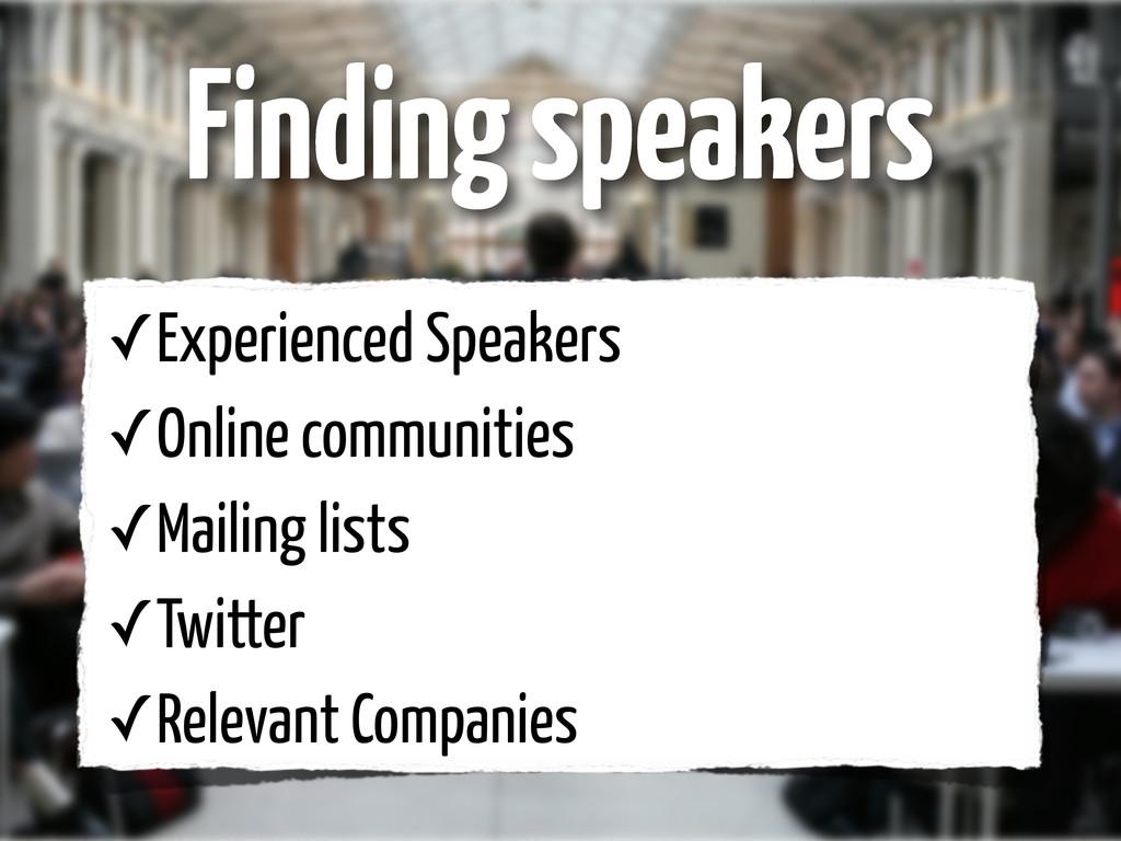 ✓Experienced Speakers ✓Online communities ✓Mail...