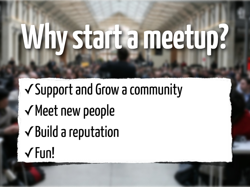 ✓Support and Grow a community ✓Meet new people ...