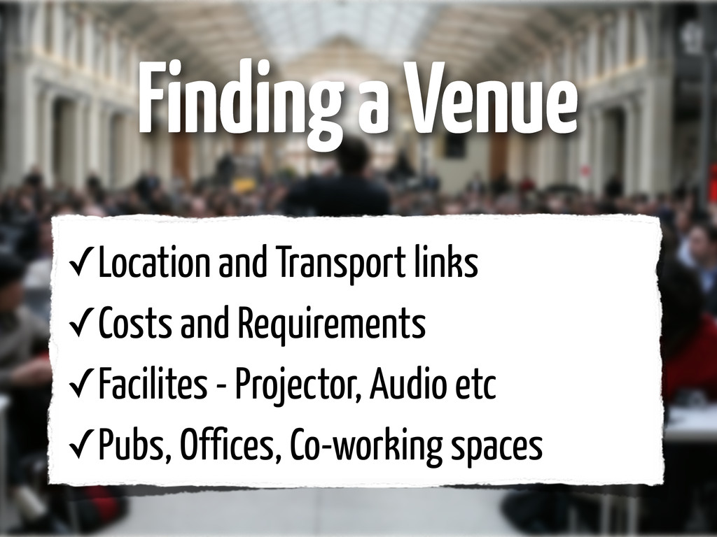 ✓Location and Transport links ✓Costs and Requir...